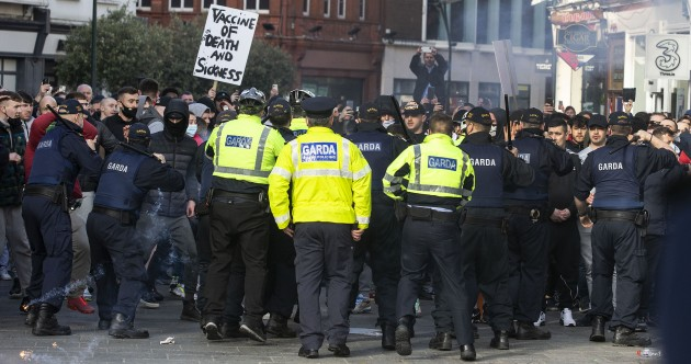 Gardaí were prepared for potential violence and drafted in specialist officers to help police today's protest