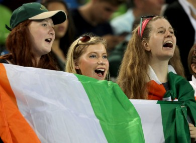 Ireland fans at the Rio Games.