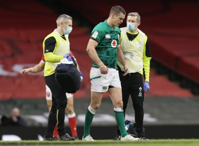 Sexton was replaced late in the game against Wales.