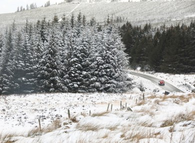 An emergency services jeep in the west Wicklow mountains.