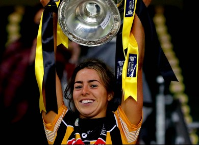 Meighan Farrell lifting the O'Duffy Cup in December.