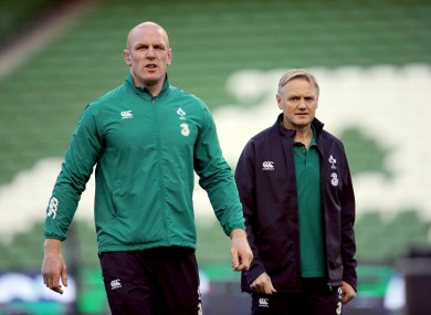 Paul O'Connell has been heavily influenced by Joe Schmidt.