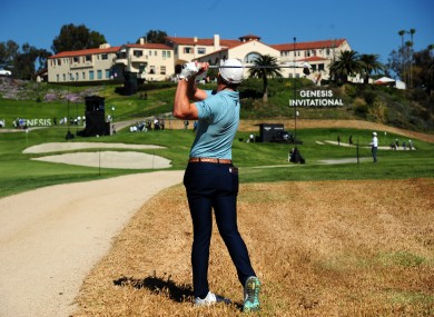 Burns in action at Riviera this week.