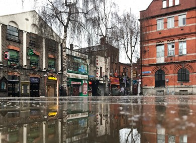 File photo. A rainy Temple Bar in Dublin city.