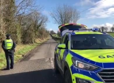 Gardaí at the scene in north Cork yesterday.