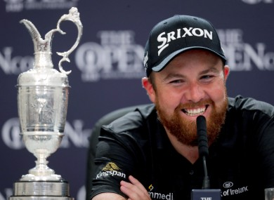 Shane Lowry after winning The Open Championship in 2019 in Royal Portrush.