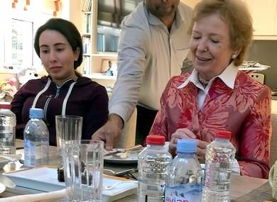 Last public appearance of Sheikha Latifa bint Mohammed al Maktoum seen at a lunch with former Irish President Mary Robinson on 24 December 2018, in Dubai, United Arab Emirates.