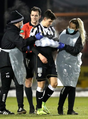 Jamie McGrath lasted just 15 minutes of Wednesday night's 4-0 loss against Celtic.