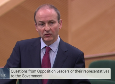 Micheál Martin said the government is limited in what it can do about the issue.