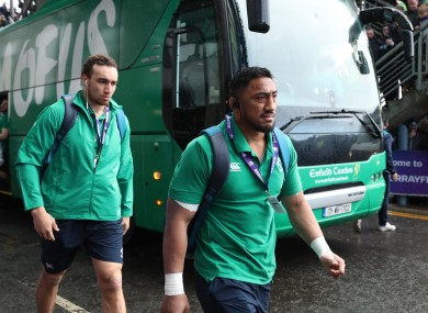 Ultan Dillane and Bundee Aki start for Connact (file photo).