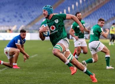 Connors crosses for a first-half Ireland try.