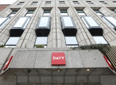File image of the Davy office in Dublin.