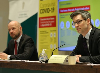 File photo. Prof Philip Nolan (left) and Dr Ronan Glynn