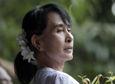 File image of Aung San Suu Kyi.