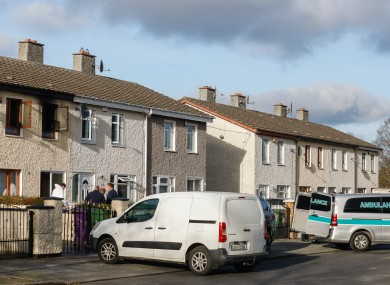 Two people were resuced from the house, but Gardaí said the man was pronounced dead at the scene.