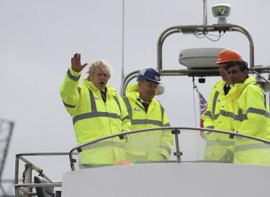 Boris Johnson on a visit to Teeside yesterday.