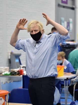 Boris Johnson in Northern Ireland earlier this month.