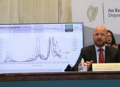 Professor Philip Nolan, Chair of the NPHET Irish Epidemiological Modelling Advisory Group.
