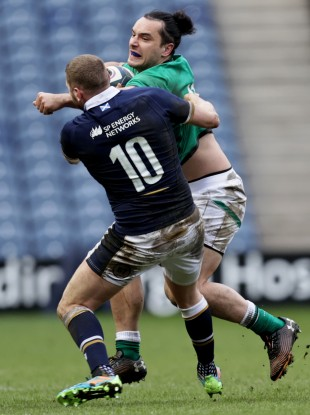 James Lowe had a tough outing against Scotland.