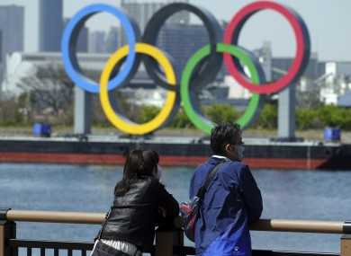 A general view of Olympic rings.