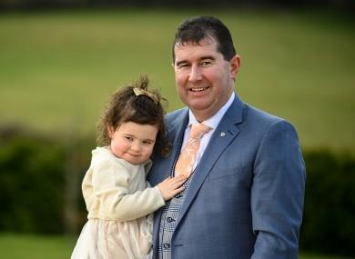 New LGFA President Míchéal Naughton with his daughter, Erin.