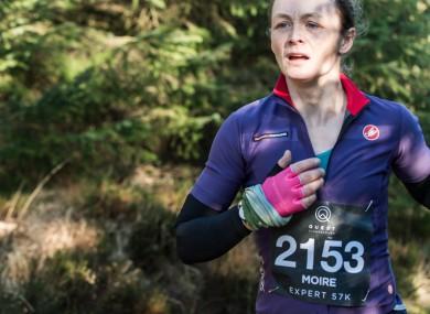 Running through Wicklow on Quest Glendalough adventure race 2017.