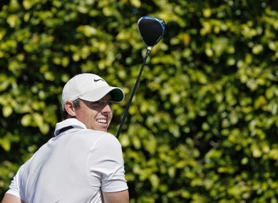Rory McIlroy after a drive at Bay Hill.