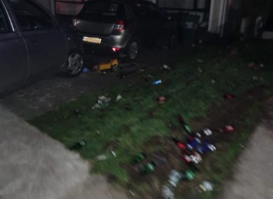 Gardaí shared an image of the scene of last night's incident on social media.