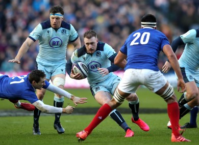 Scotland captain Stuart Hogg in action against France last year.