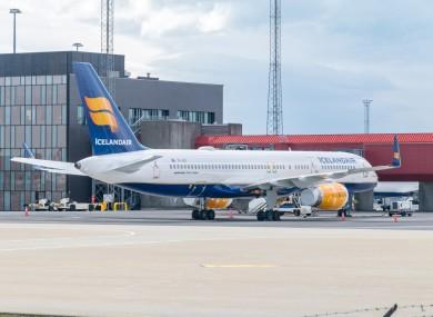 File. An Icelandair plane at Keflavik Airport.