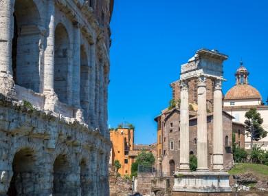 Teatro Macello near the Colosseum in Rome, Italy