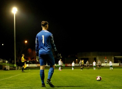 Cabo goalkeeper Adam Hayden in action at Stradbrook.