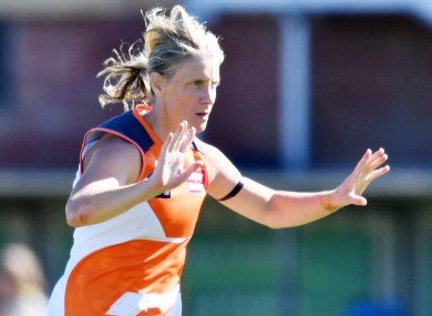 Cora Staunton in action for the GWS Giants.