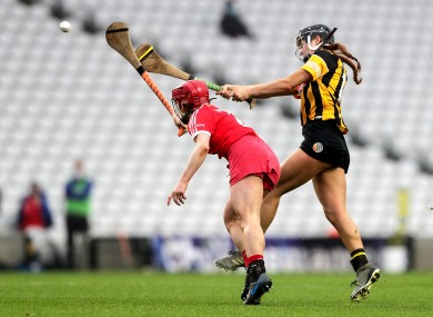 Cork dual star Libby Coppinger in action against Kilkenny.