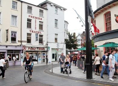 File image of people walking on a street in Cork City in 2016.