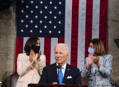 Joe Biden addresses a joint session of Congress