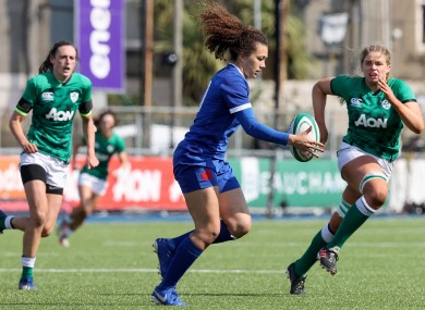 France out-half Caroline Drouin in action against Ireland.