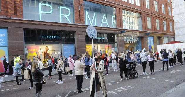 Large queues outside Primark and other retailers in Belfast as restrictions ease in the North