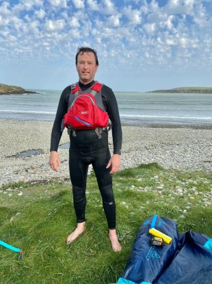 Kitesurfer Dylan Green rescued a swimmer in difficulty yesterday evening