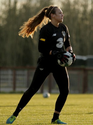 Ireland goalkeeper Grace Moloney.