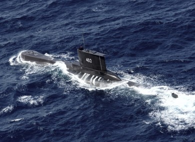 An archive image of the missing submarine  KRI Nanggala 402.