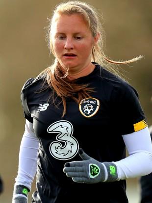 Ireland striker Kyra Carusa (file pic).