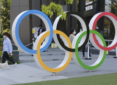 The Olympic rings in Tokyo.