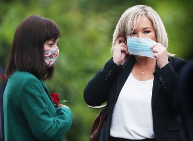 Infrastructure Minister Nichola Mallon and Northern Ireland Deputy first Minister Michelle O'Neill.