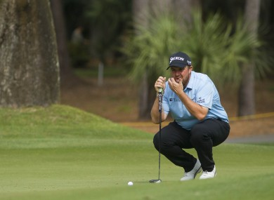 Lowry in action today at Hilton Head.