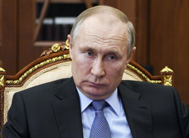 Russian President Vladimir Putin pictured in Moscow last week.