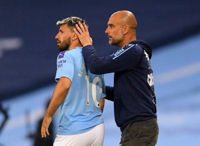 Double act: Sergio and Pep.
