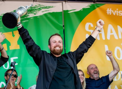 Shane Lowry's homecoming in Clara in '19.