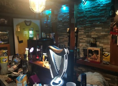 A shebeen which was shut down in Dun Laoghaire, Dublin, earlier this year.