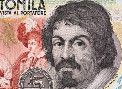 Caravaggio on a lire note